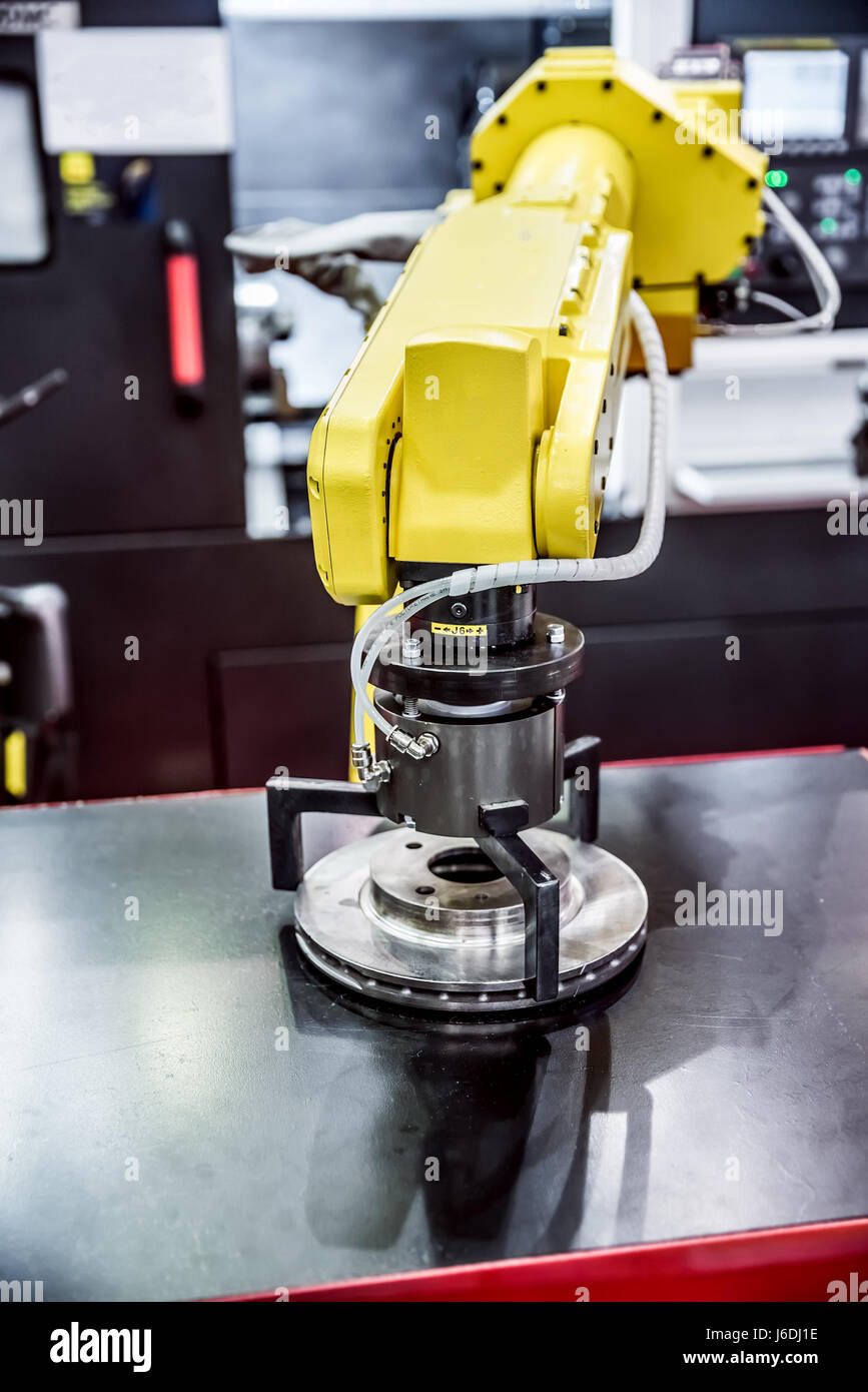 Robotic Arm production lines modern industrial technology. - Stock Image