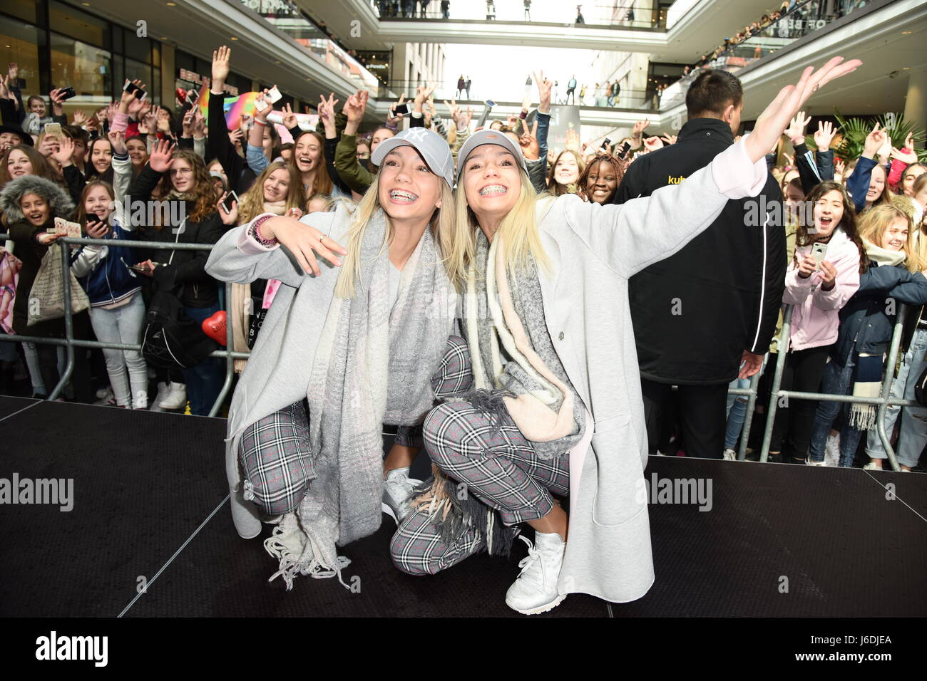 Meet and greet with german musical twins lisa and lena at mall of meet and greet with german musical twins lisa and lena at mall of berlin in mitte featuring lisa and lena where berlin germany when 19 apr 2017 m4hsunfo