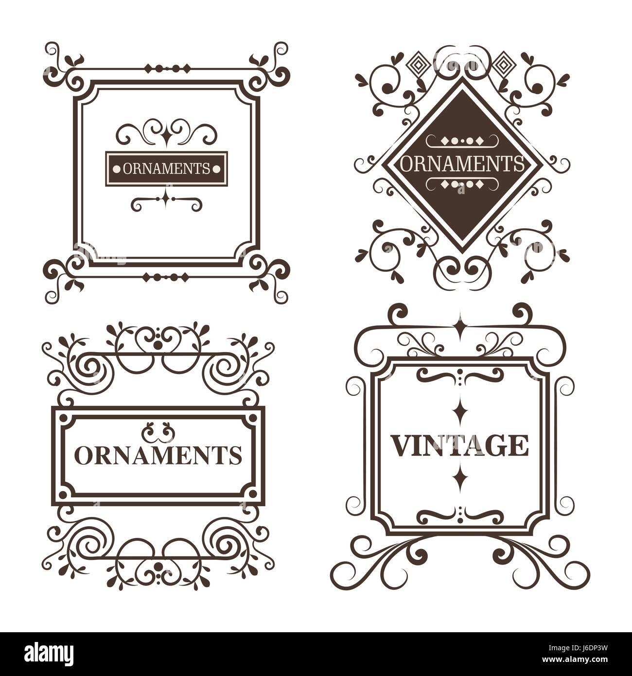 Ornamental frames design Stock Vector Art & Illustration, Vector ...