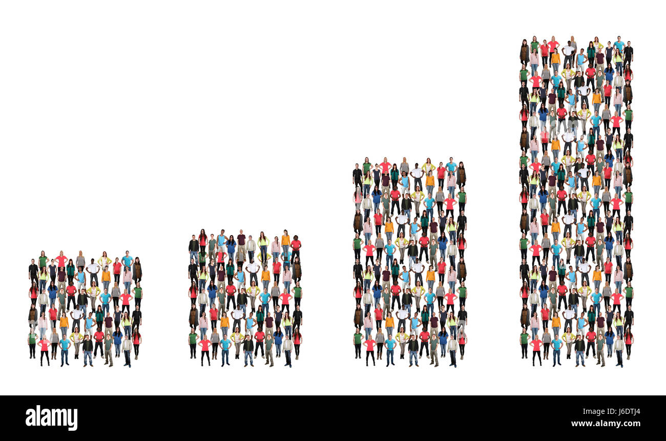Group of people success business profit growth chart sales growing - Stock Image