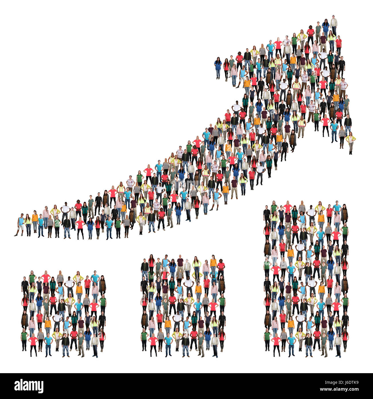Group of people success business successful growth chart marketing growing - Stock Image