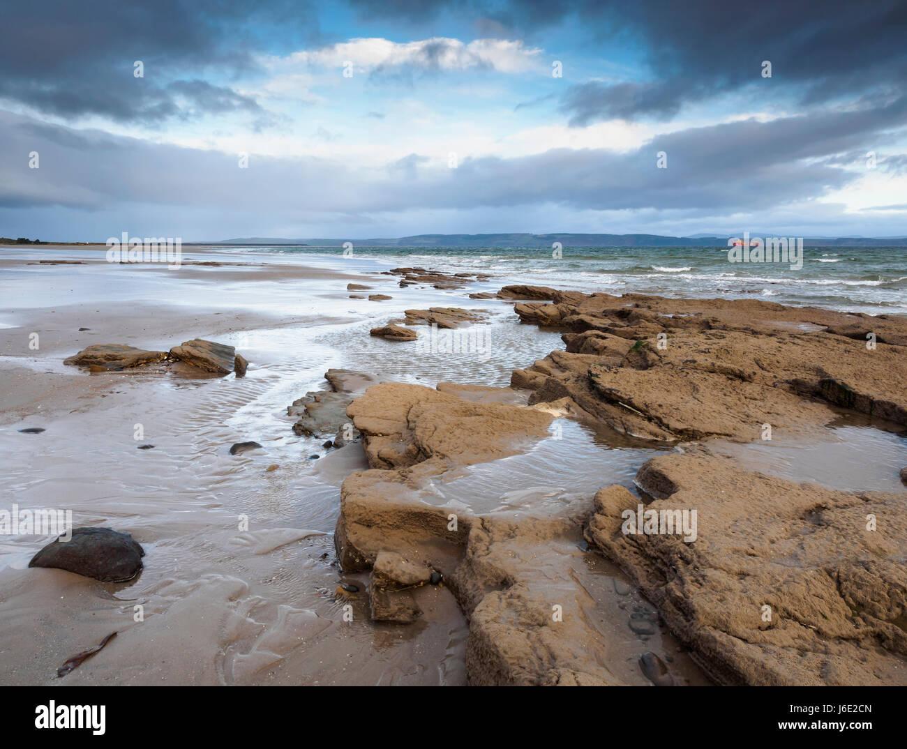 Nairn Beach, Moray - Stock Image