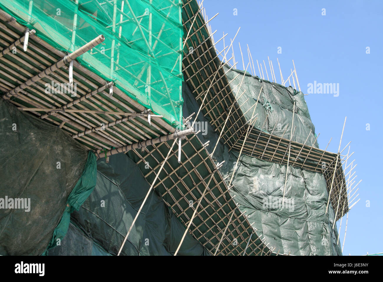 bamboo china style of construction architecture architectural style scaffold - Stock Image