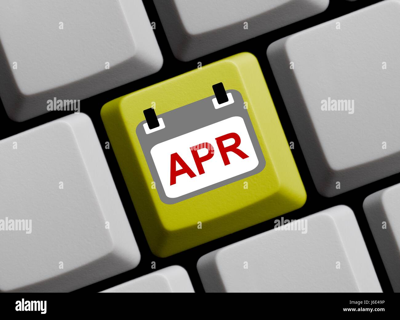 the month of april - kalenderblatt online - Stock Image