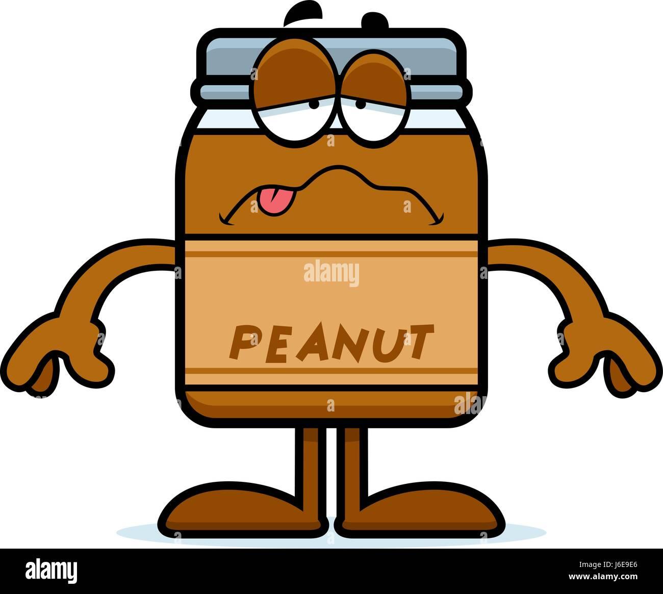 Peanut butter jar doodle icon cartoon Royalty Free Vector