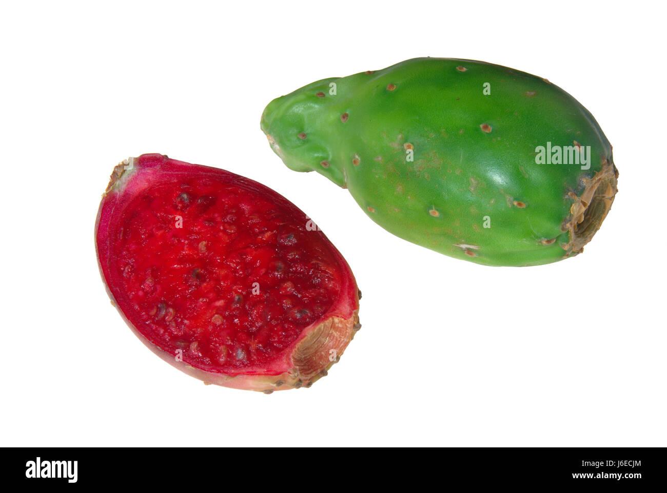 food aliment health isolated fruit cactus pear bulb slice nutrition food Stock Photo