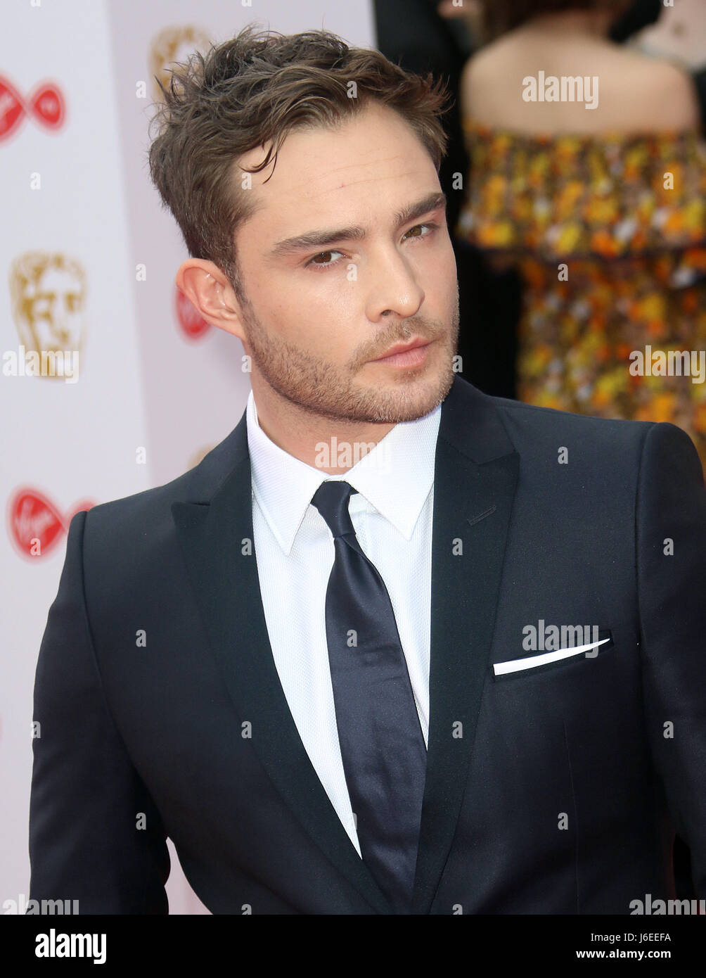 May 14, 2017 - Ed Westwick attending Virgin TV BAFTA Television Awards 2017 at The Royal Festival Hall in London, - Stock Image
