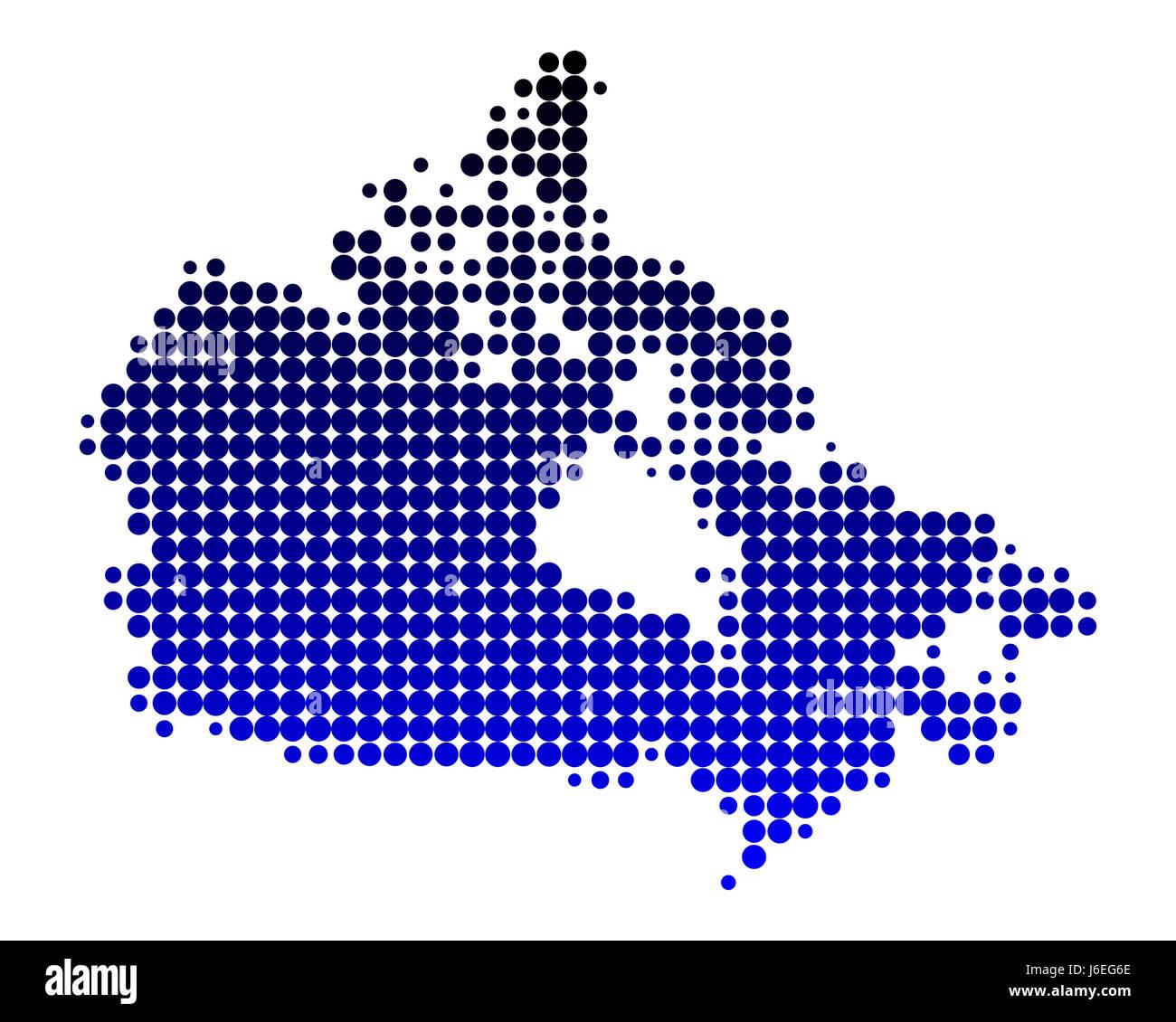 america canada circle card dot north america geography atlas ...