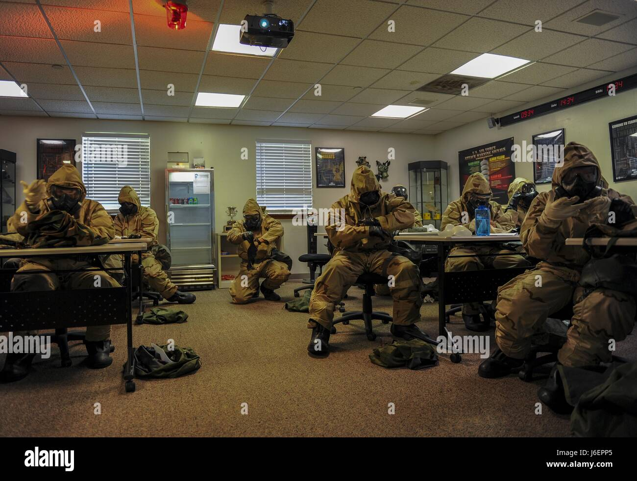 Air Commandos attended a chemical, biological, radiological and nuclear survival skills class at Hurlburt Field, - Stock Image