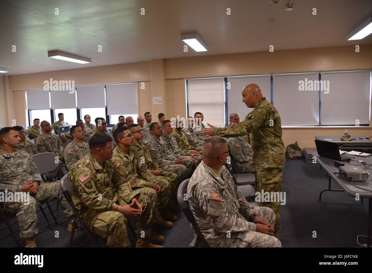 U.S. Army Reserve Soldiers assigned to the 246th Quartermaster Company (Mortuary Affairs) are in the midst of their - Stock Image