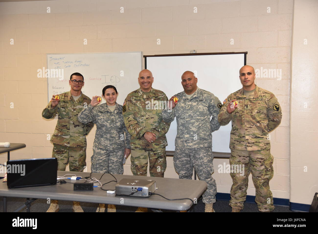 FORT DIX, New Jersey – U.S. Army Reserve Soldiers assigned to the 246th Quartermaster Company (Mortuary Affairs) - Stock Image
