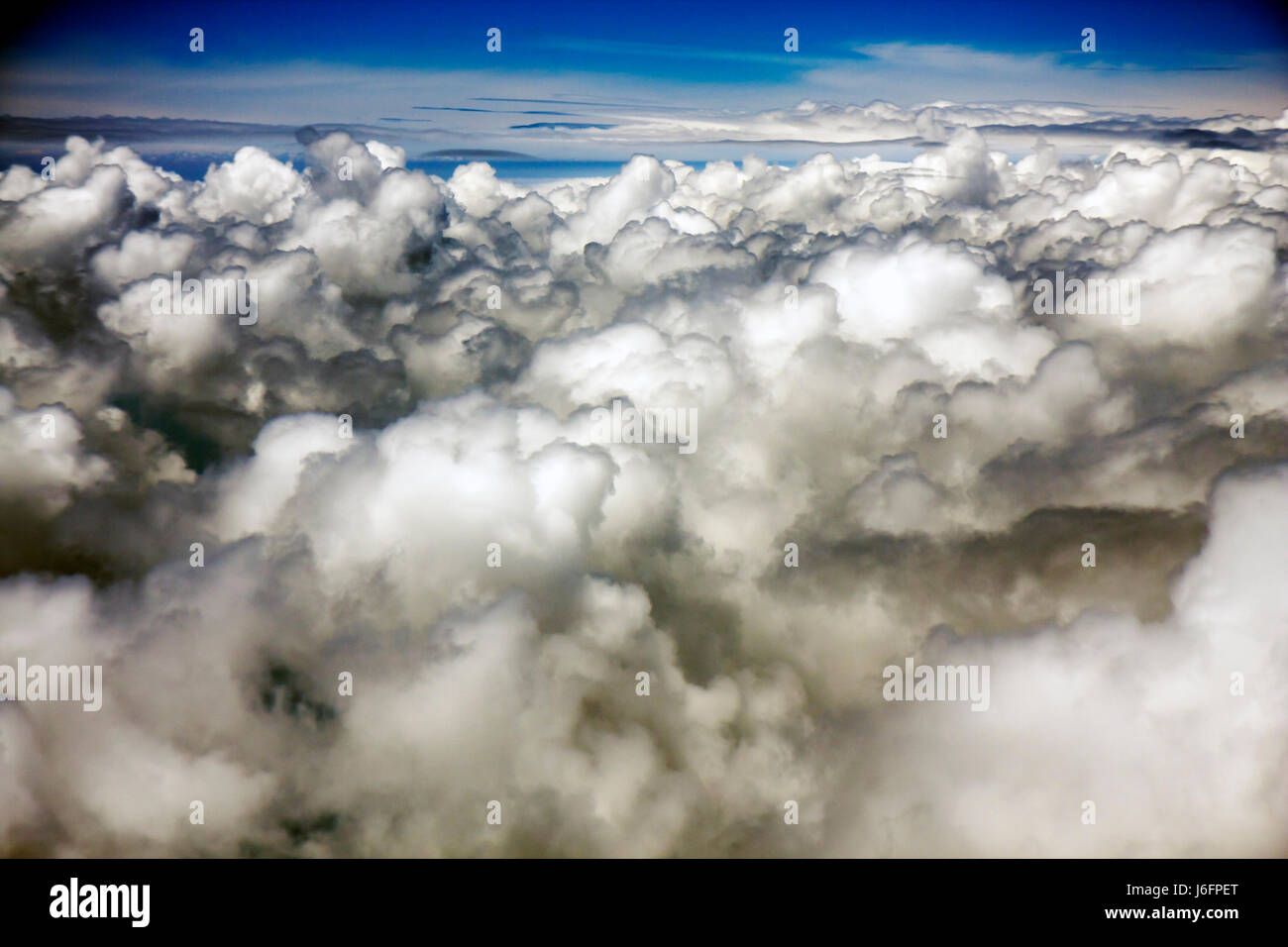 Georgia Columbus aerial photo clouds altitude atmosphere weather sky - Stock Image