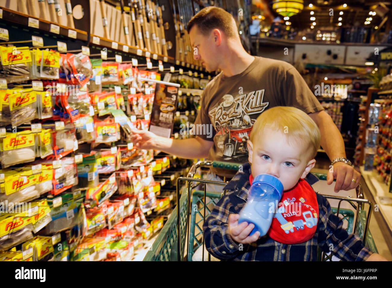 545ff847f8 Tennessee Sevierville Kodak Bass Pro Shops man boy toddler father son merchandise  sporting goods outdoor recreation shopping car