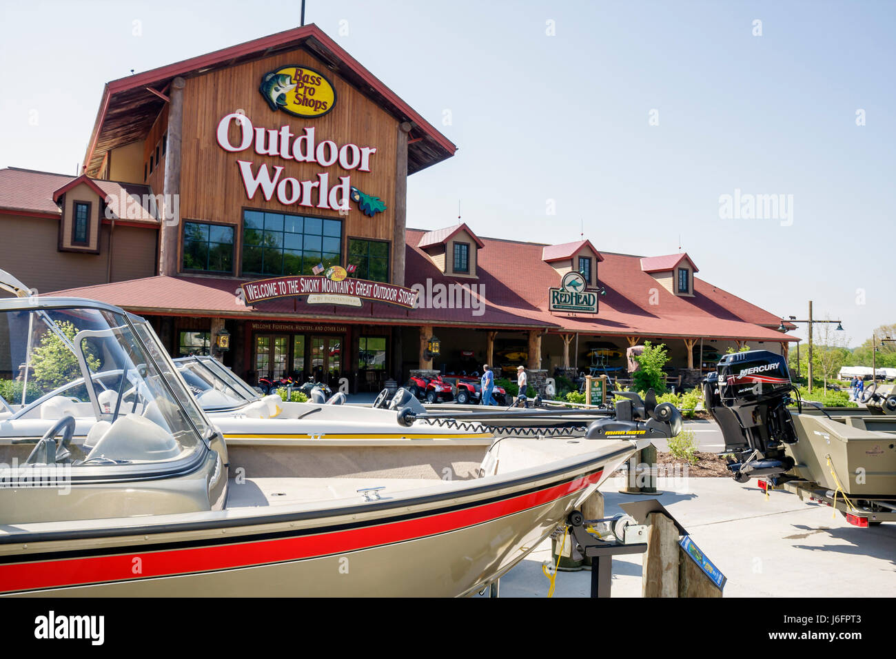 eb7bf1e9be Tennessee Sevierville Kodak Bass Pro Shops sporting goods outdoor  recreation retail chain exterior building name brand marketing