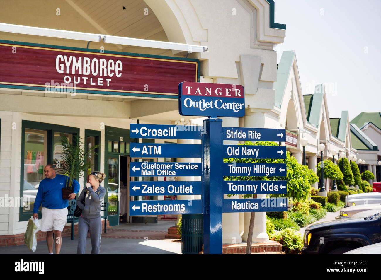 f01878b230 Tennessee Sevierville Tanger Outlets at Five Oaks shopping woman man couple  shopping outdoor mall retail bargain
