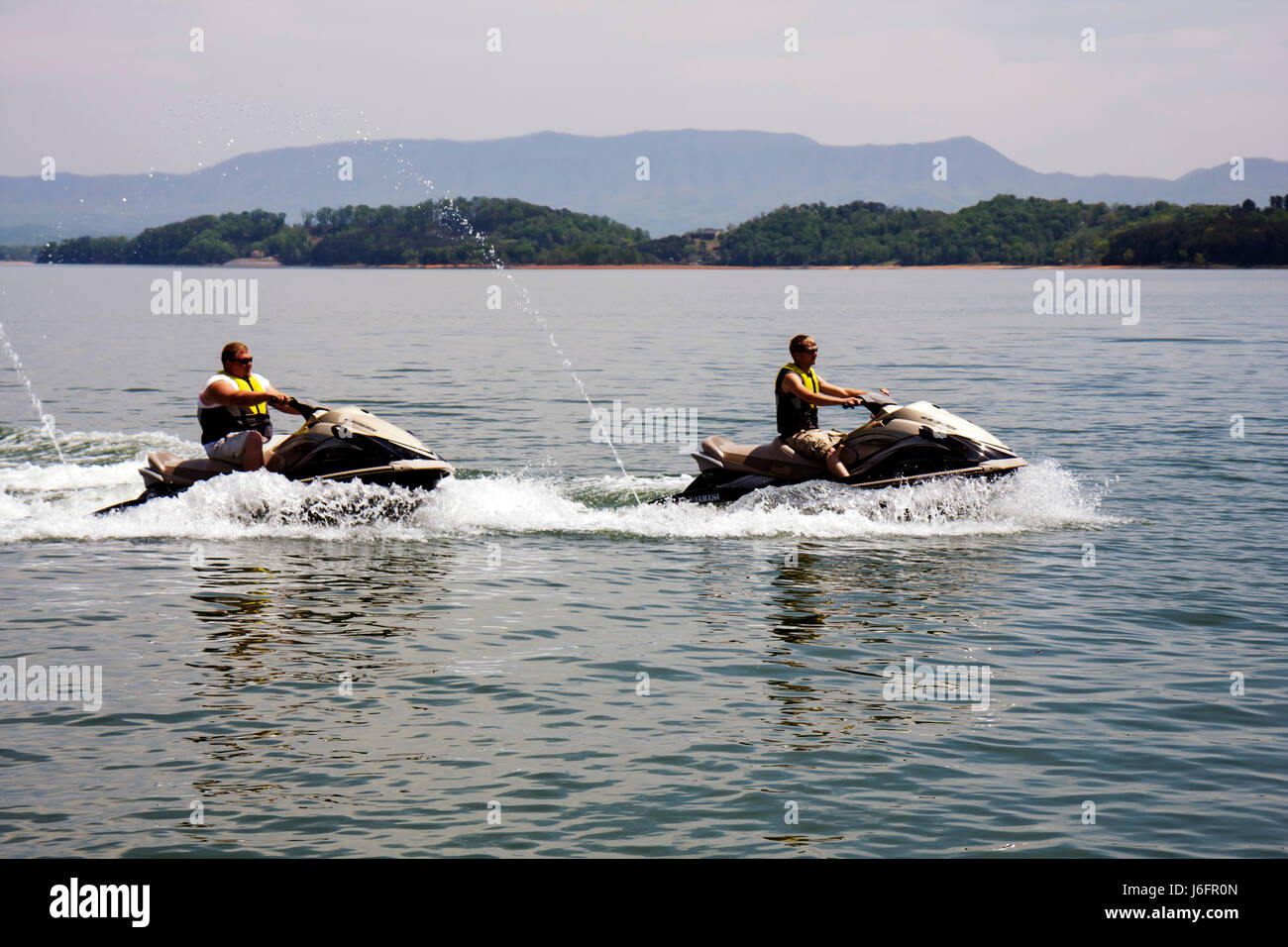 Tennessee Sevierville Douglas Lake jet ski wave runner water sport - Stock Image