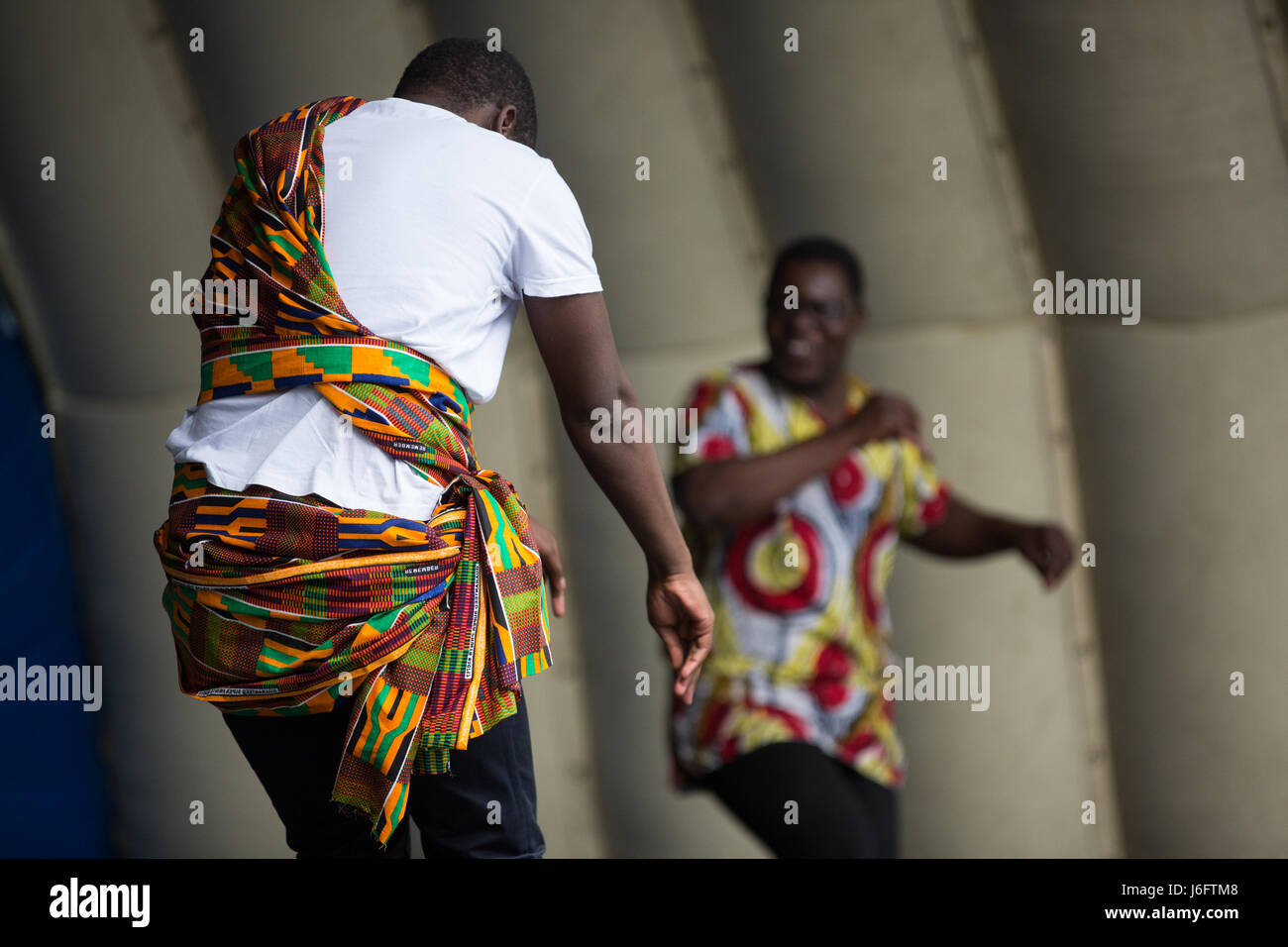 Slough, UK. 20th May, 2017. World of Life Ministries perform dances from Zimbabwe and South Africa at the Diverse - Stock Image