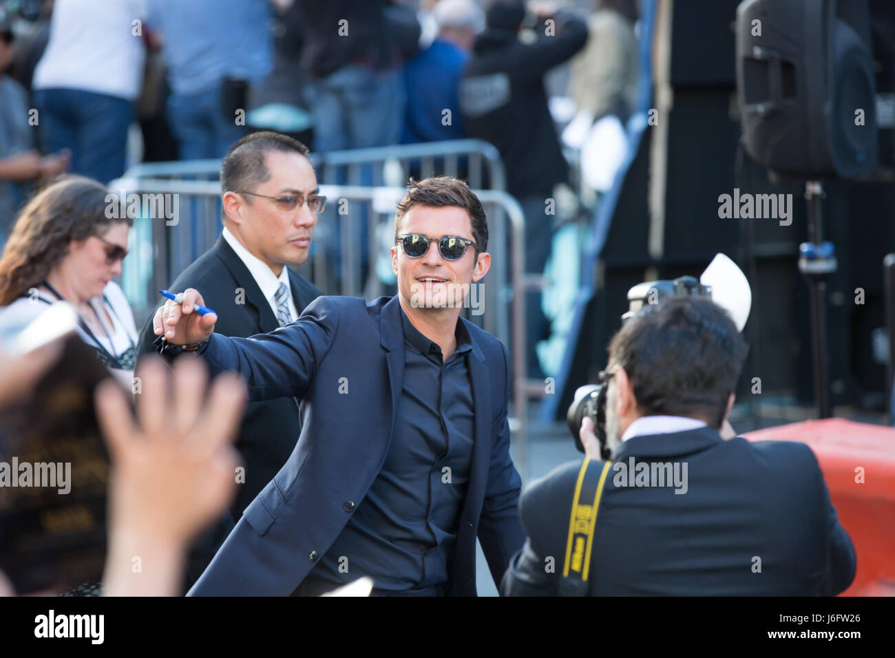Actor Orlando Bloom attends premiere Disney's 'Pirates Caribbean: Dead Men Tell No Tales' Dolby Theatre - Stock Image