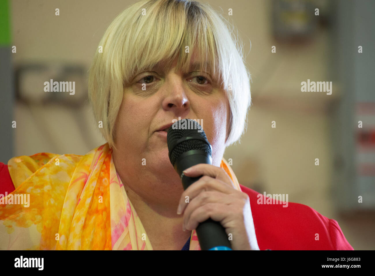 Stockport, UK. 21st May, 2017. Jackie Pearcey, Liberal Democrat Parliamentary candidate for Manchester Gorton constituency, - Stock Image