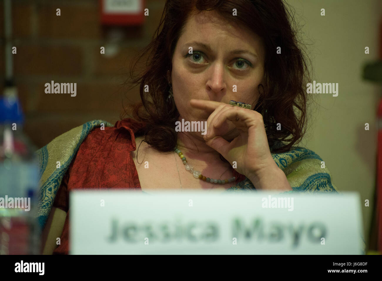 Stockport, UK. 21st May, 2017. Jessica Mayo, The Green Party of England and Wales Parliamentary candidate for the - Stock Image