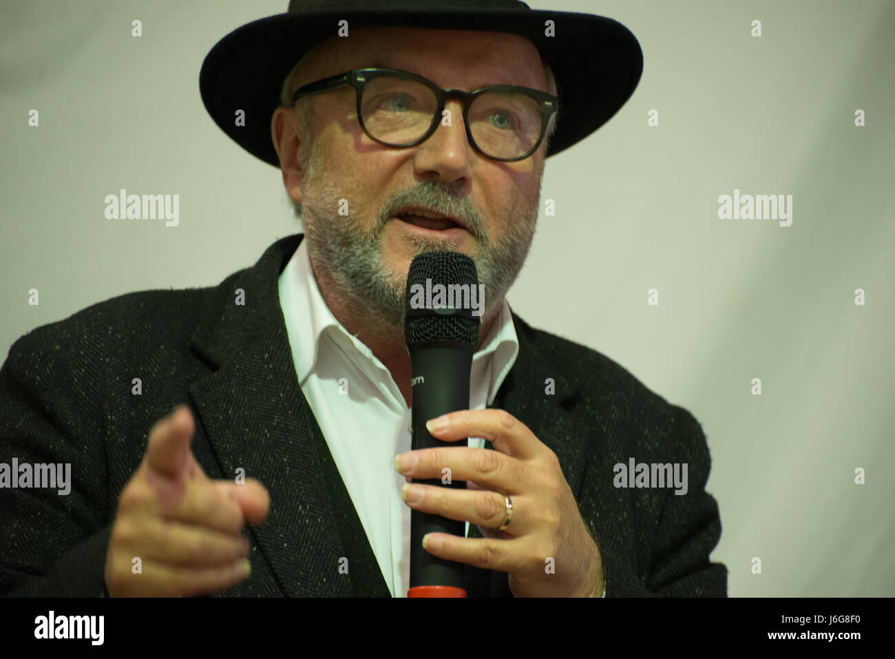 Stockport, UK. 21st May, 2017. George Galloway, Author, Broadcaster and Independent Parliamentary candidate for - Stock Image