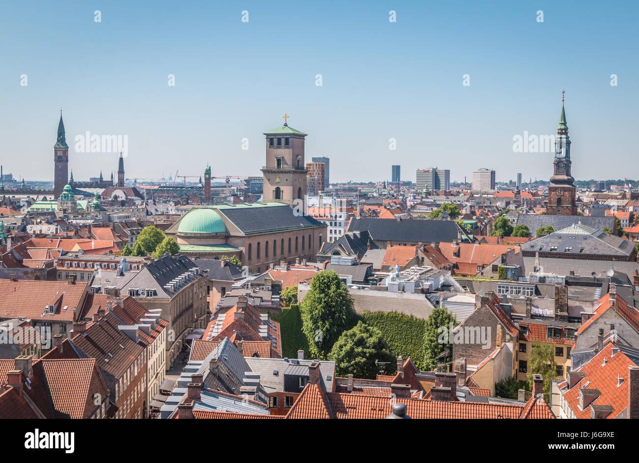 Nice view of Copenhagen - Stock Image