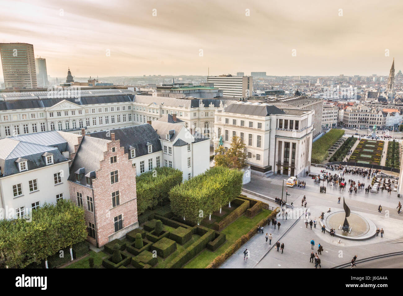 City of Brussels in Belgium - Stock Image