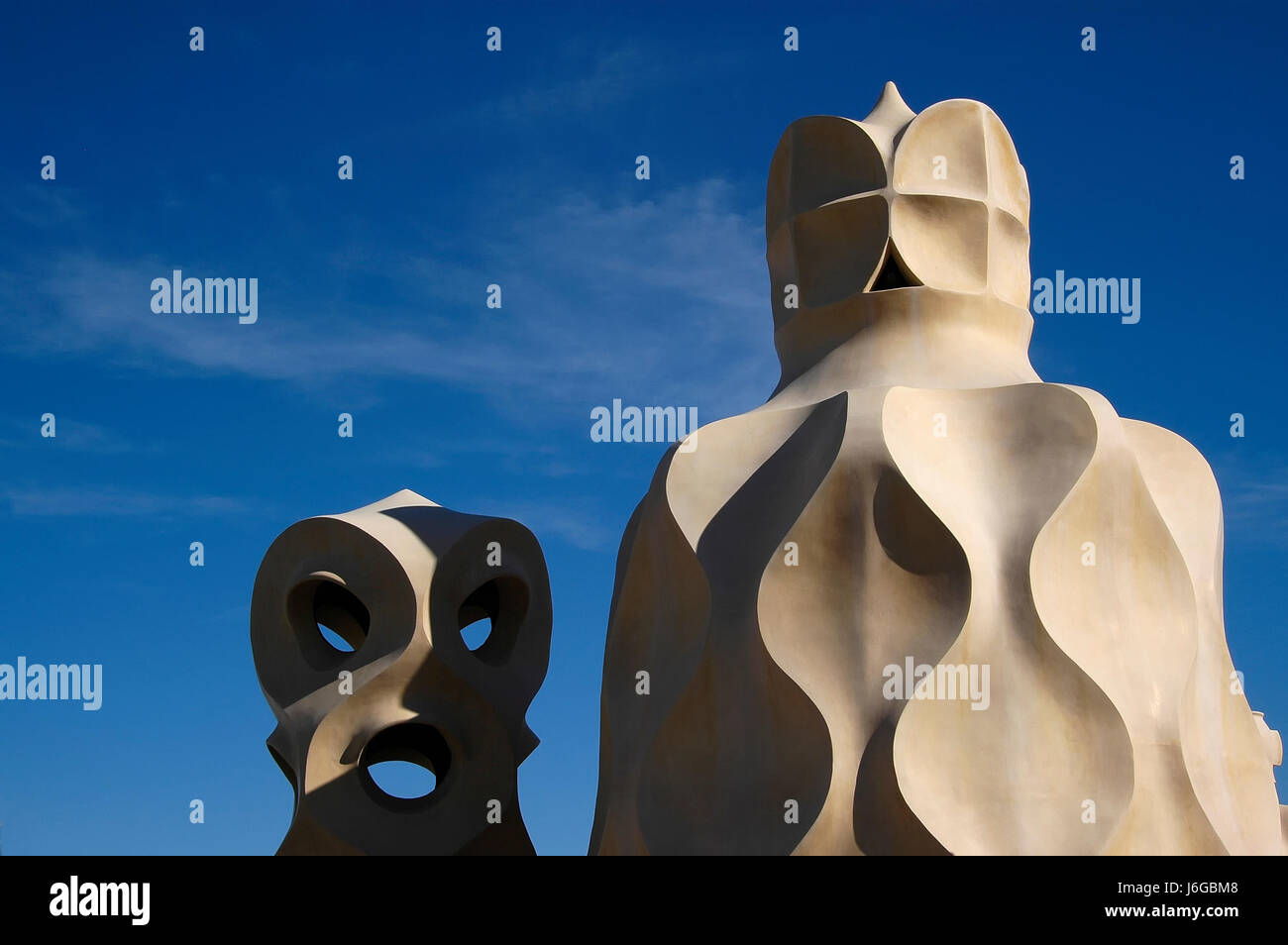 modernism catalan barcelona house building travel architectural art famous - Stock Image