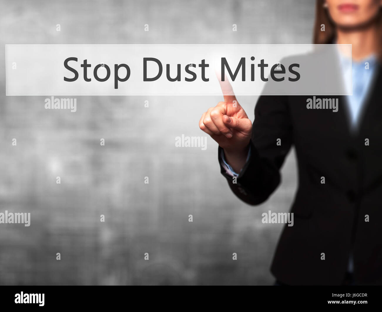 Skin Mites Stock Photos Images Alamy Human As A Touch Screen Interface Stop Dust Businesswoman Hand Pressing Button On Business Technology