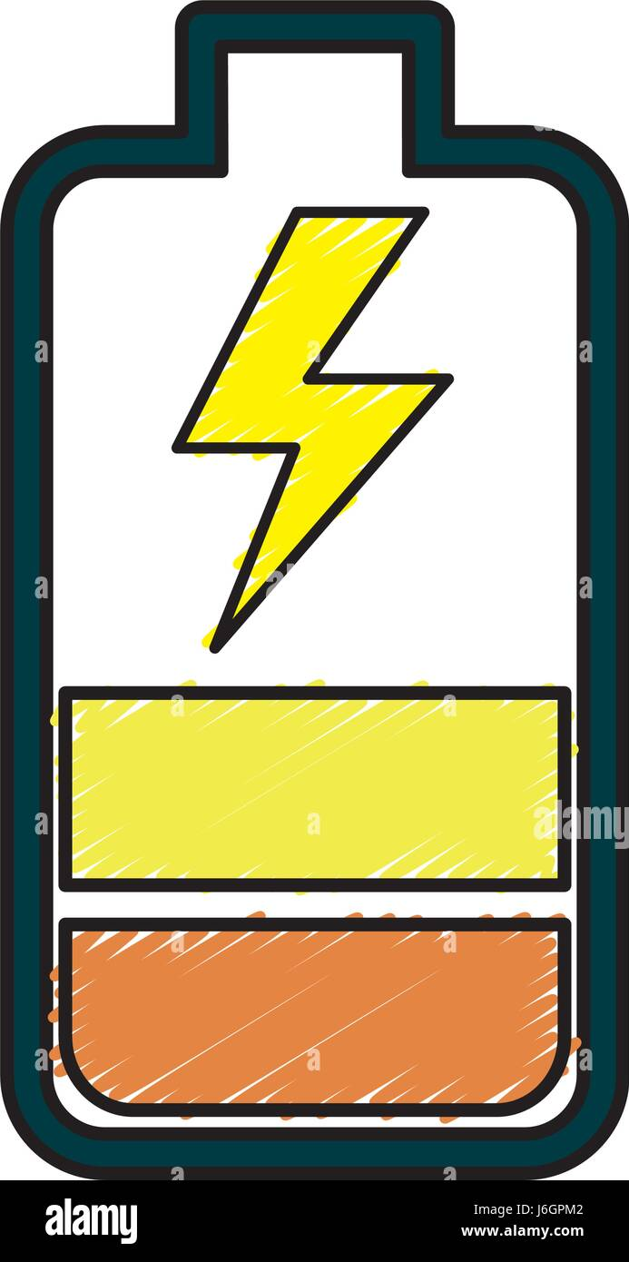 battery power electric digital charge - Stock Vector