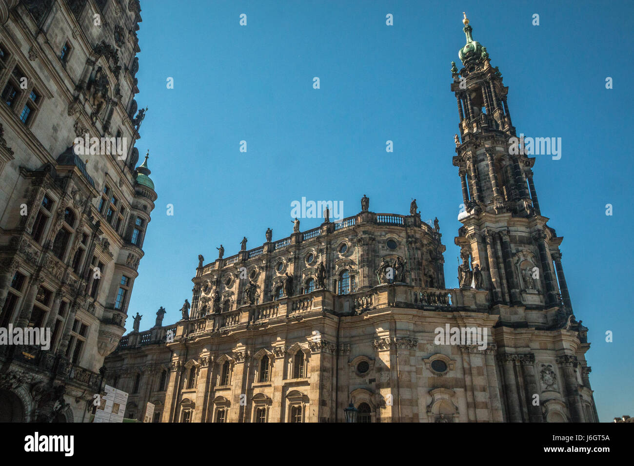 Old Catholic Church in Dresden Germany - Stock Image