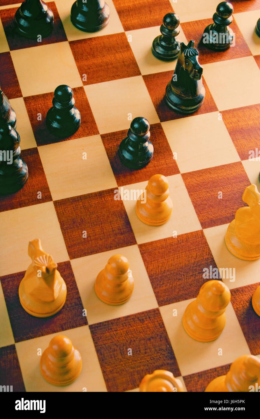 game of chess as concept for strategy - Stock Image