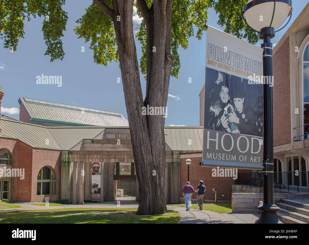 The Hood Museum at Dartmouth College in Hanover, New Hampshire Stock Photo