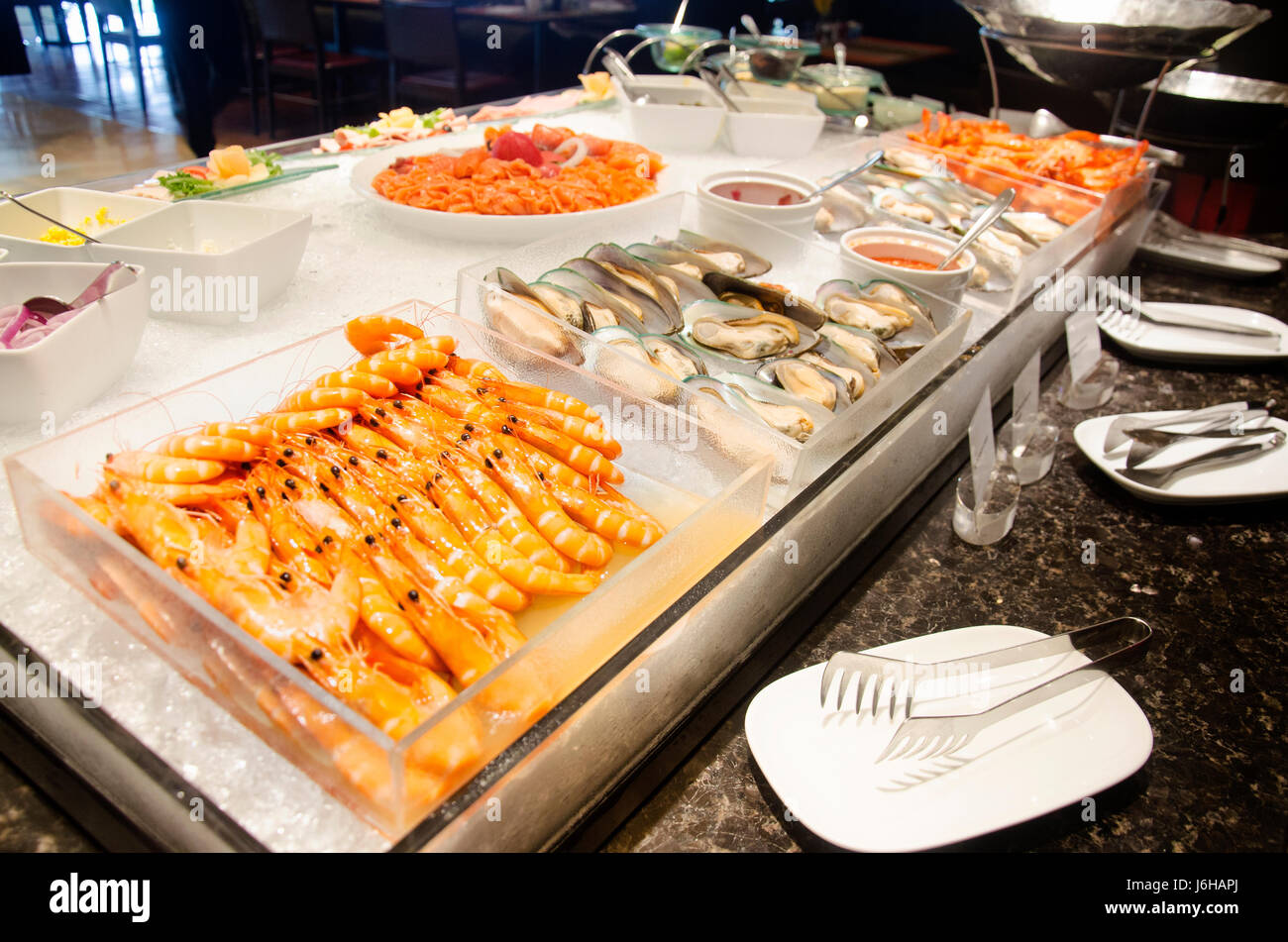 Magnificent Cuisine Seafood Line At Food Buffet Service For People Serve Download Free Architecture Designs Grimeyleaguecom