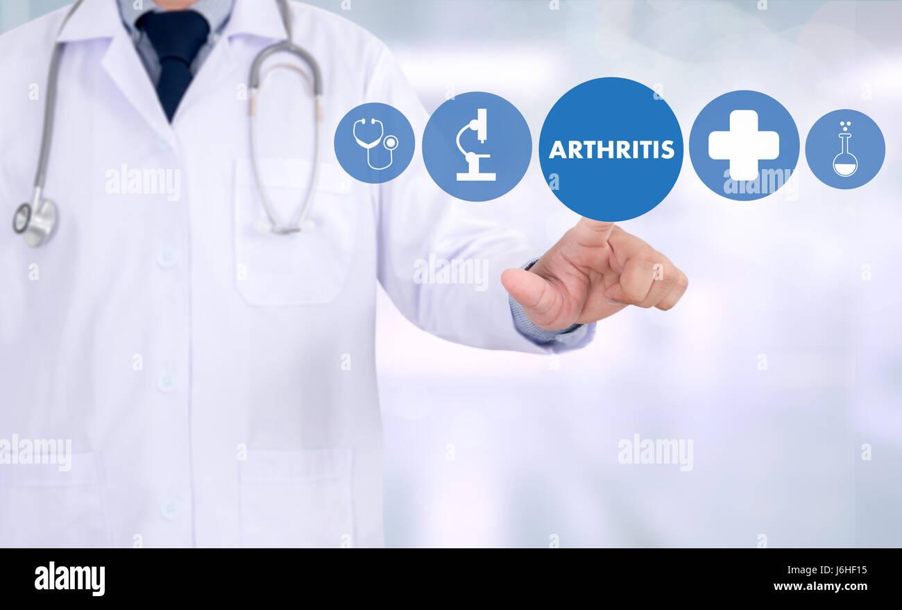 ARTHRITIS medical examination medicine, health and hospital - Stock Image