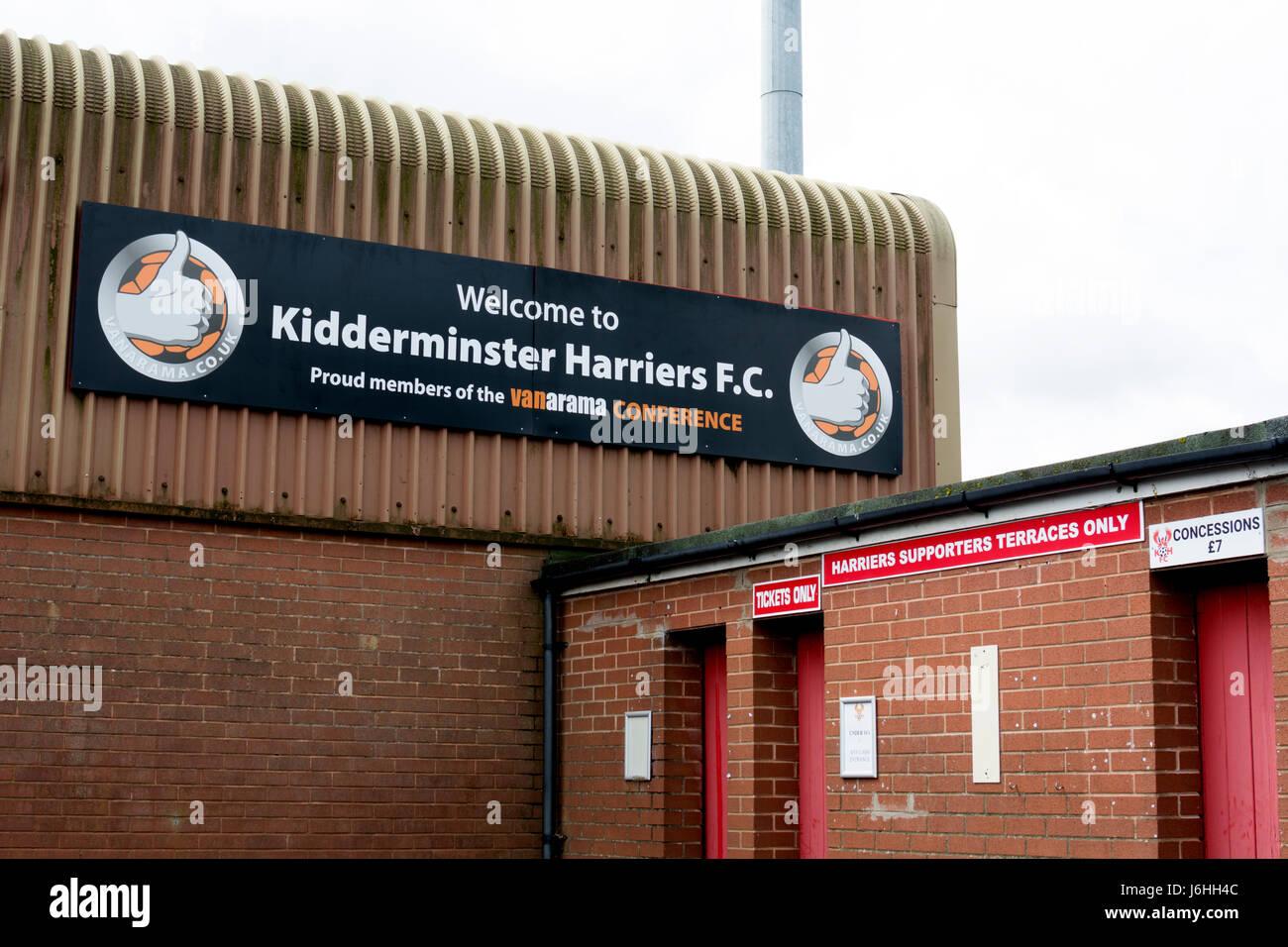 Kidderminster Harriers football ground, Worcestershire, England, UK - Stock Image