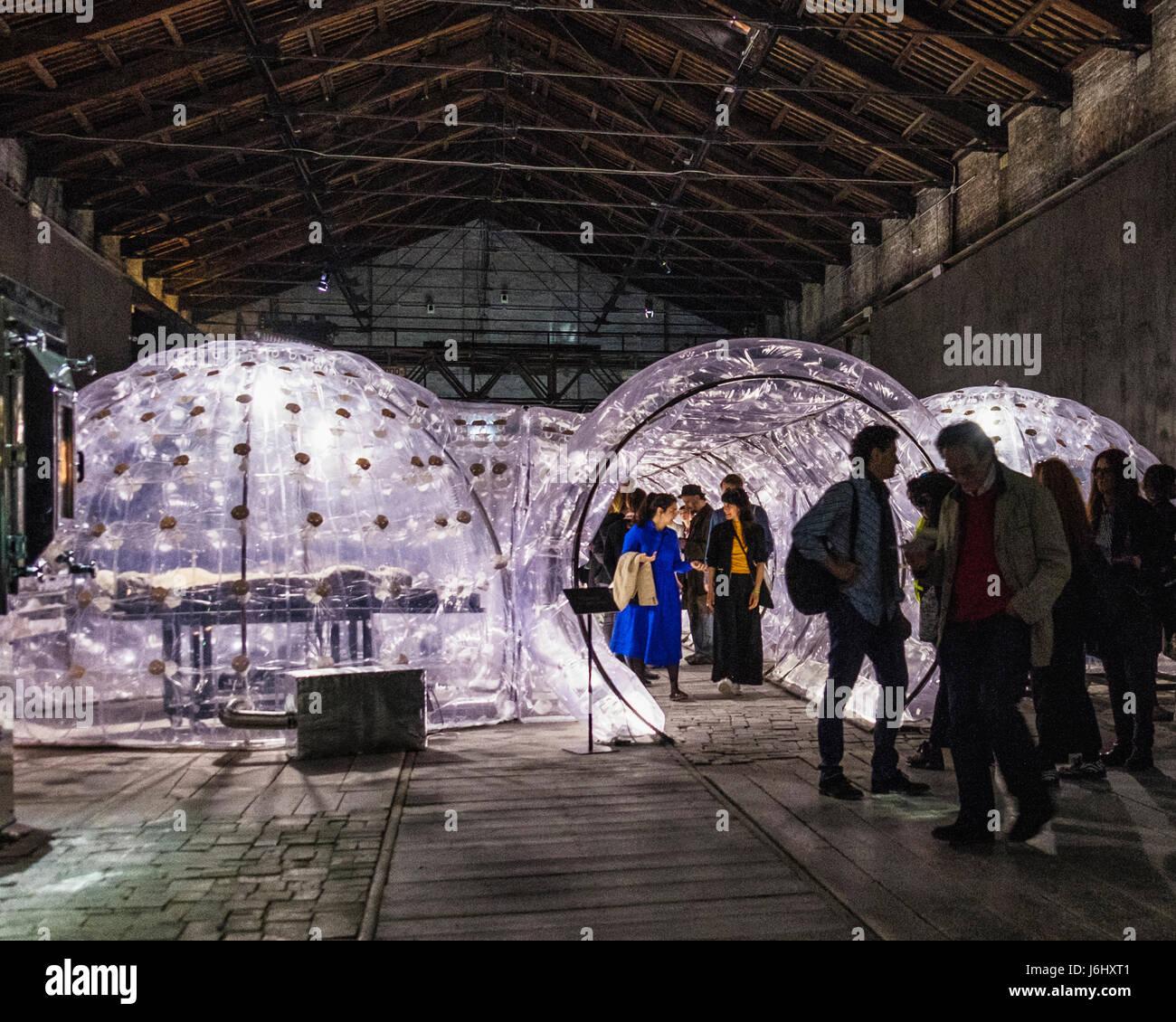"""Venice,Castello,Arsenale. 57th Venice Biennale 2017,La Biennale di Venezia.Italy Pavilion. artwork """"Imitation of - Stock Image"""
