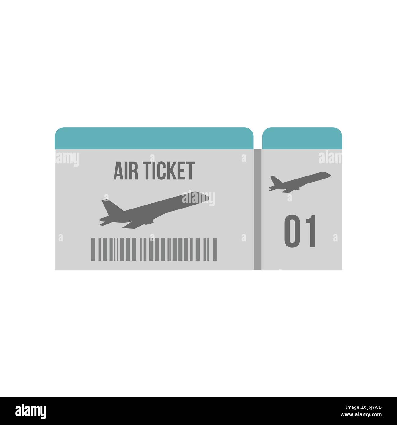 Air ticket icon, flat style - Stock Image