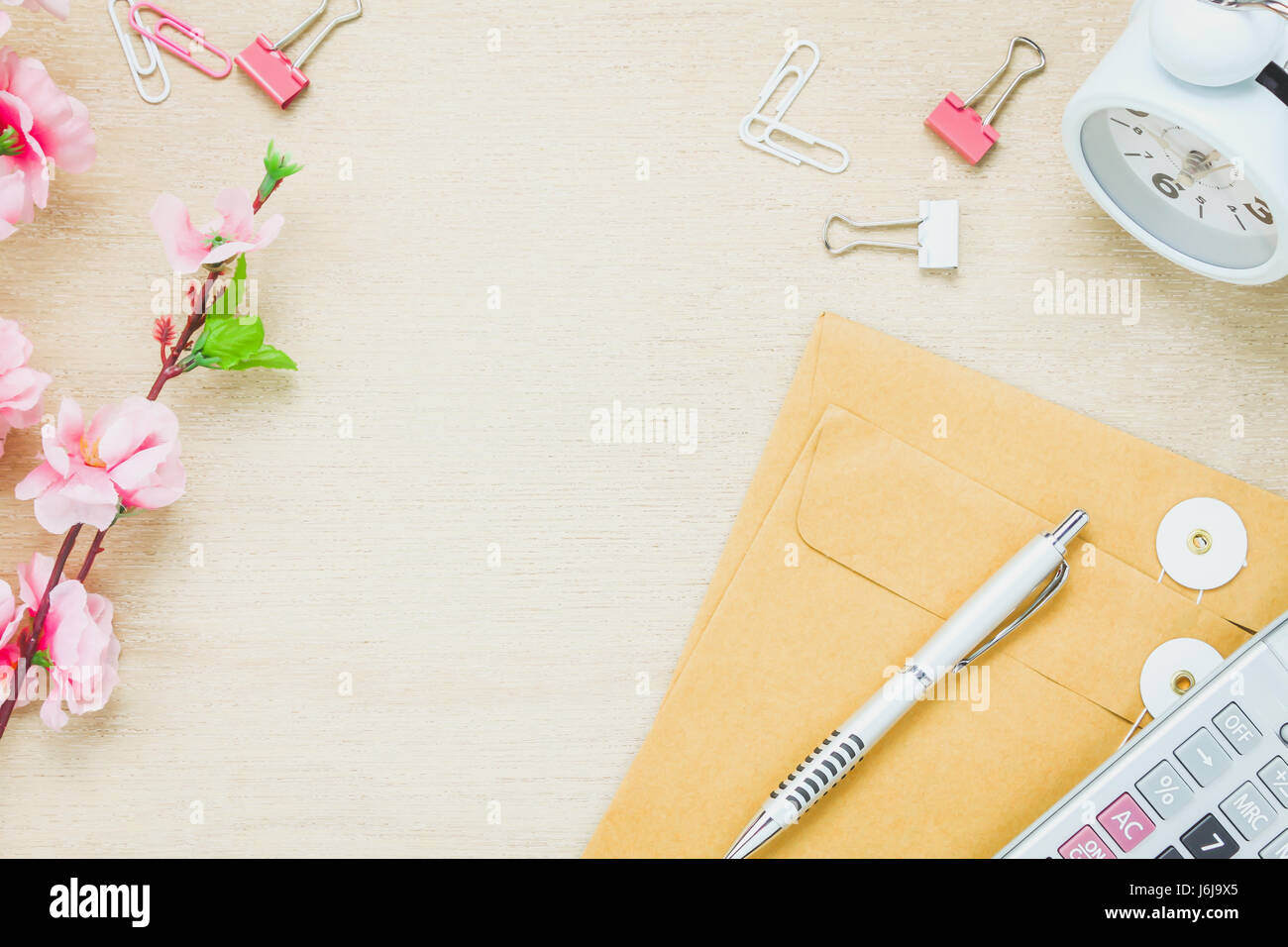 Astonishing Top View Business Office Desk Background The Pen Letter Beutiful Home Inspiration Xortanetmahrainfo