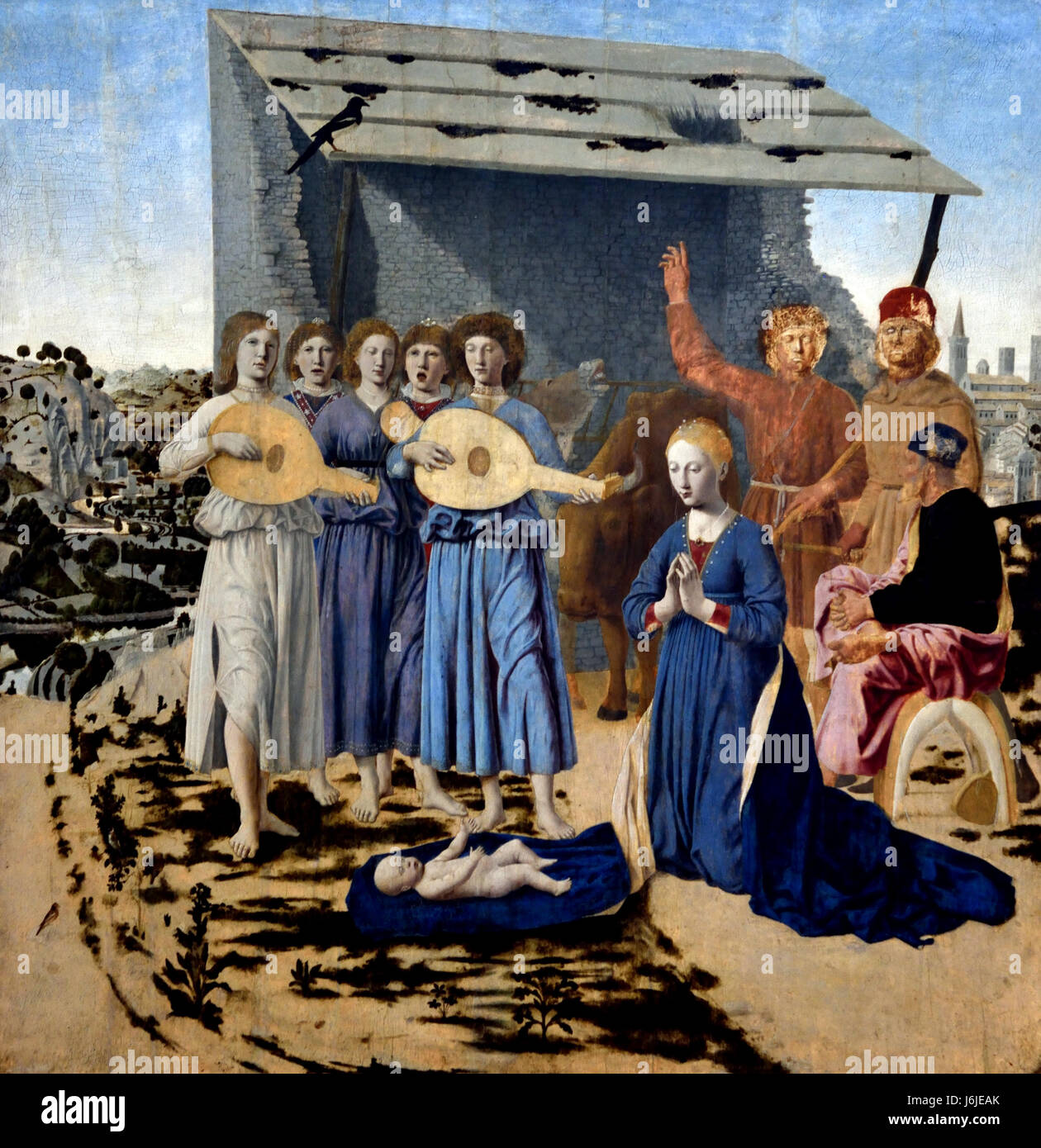 The Nativity 1470-5  Piero della Francesca 1415/20 - 1492 Italy Italian - Stock Image