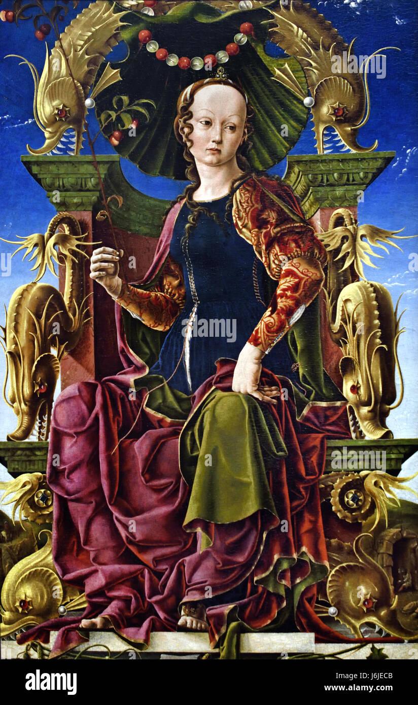 A Muse (Calliope?) 1455-60 Cosimo Tura 1431 - 1495 Italy Italian - Stock Image