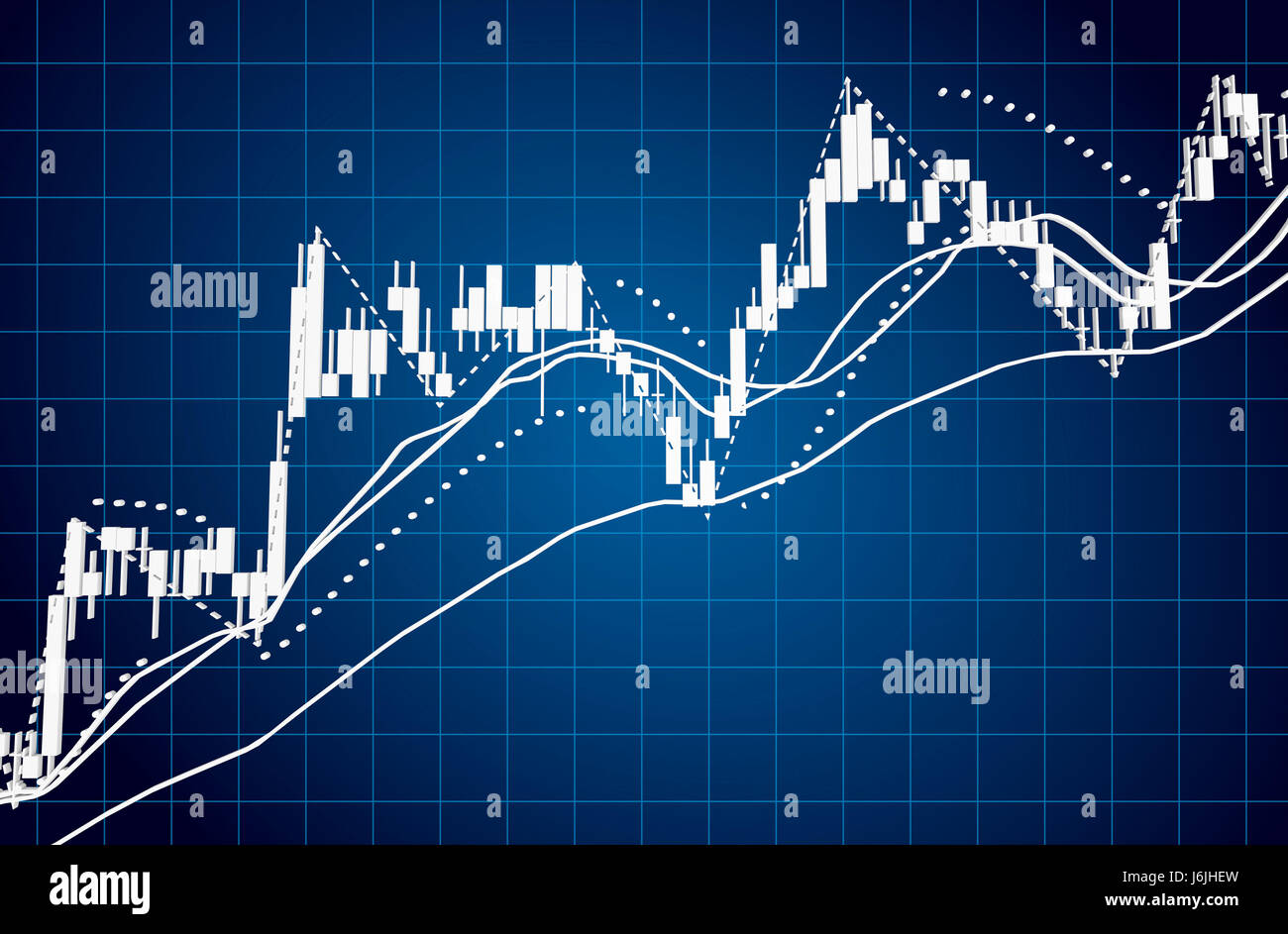 stock market charts and summary info for making trading with stock