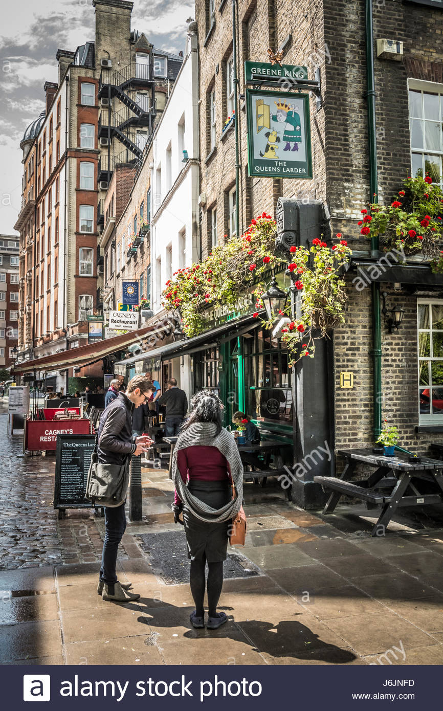 Cosmo Place near Queen Square in London's Bloomsbury Area. - Stock Image