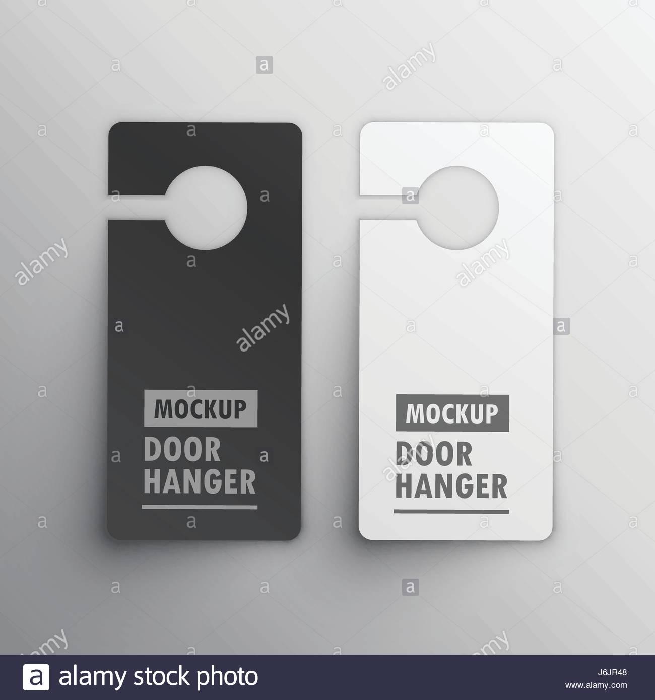 door hanger mockup design vector - Stock Image