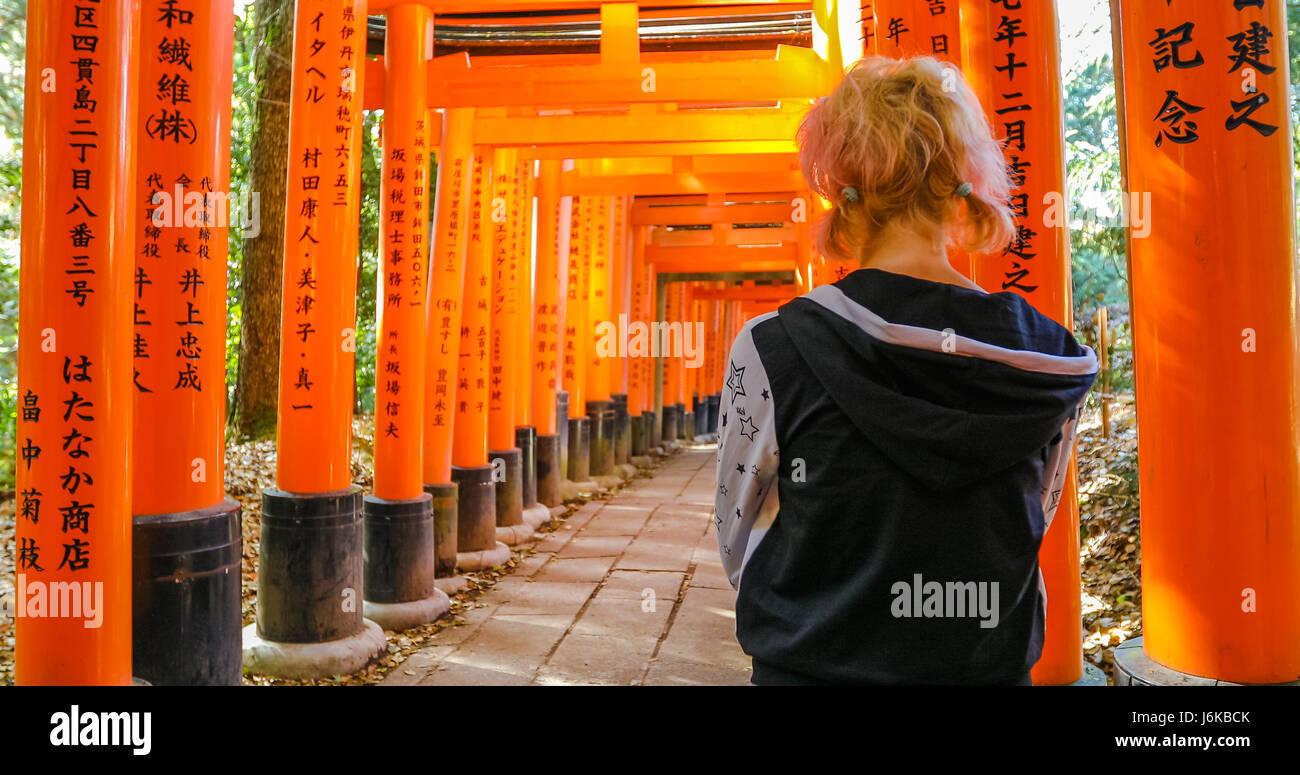 Fushimi Inari taisha - Stock Image
