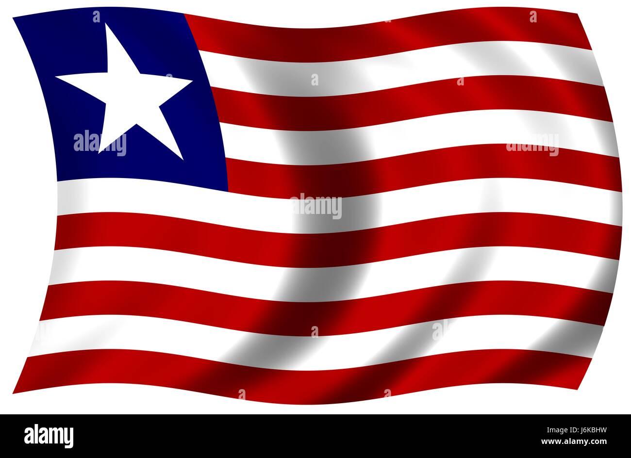 national flag of liberia - Stock Image