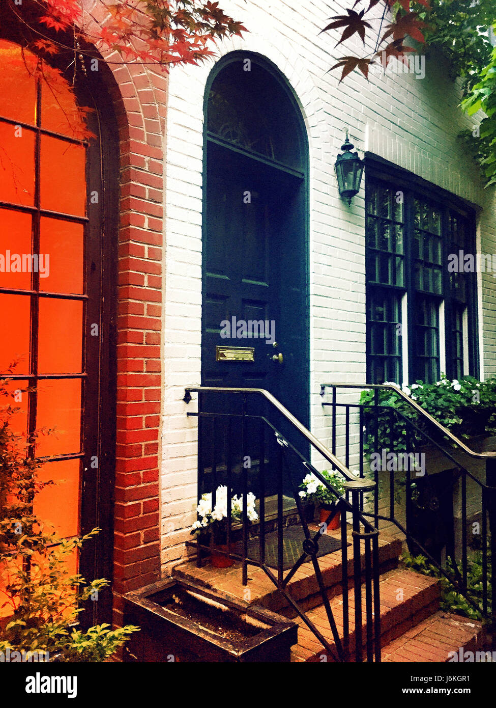 Sniffen Court Historic District in Murray Hill, NYC - Stock Image