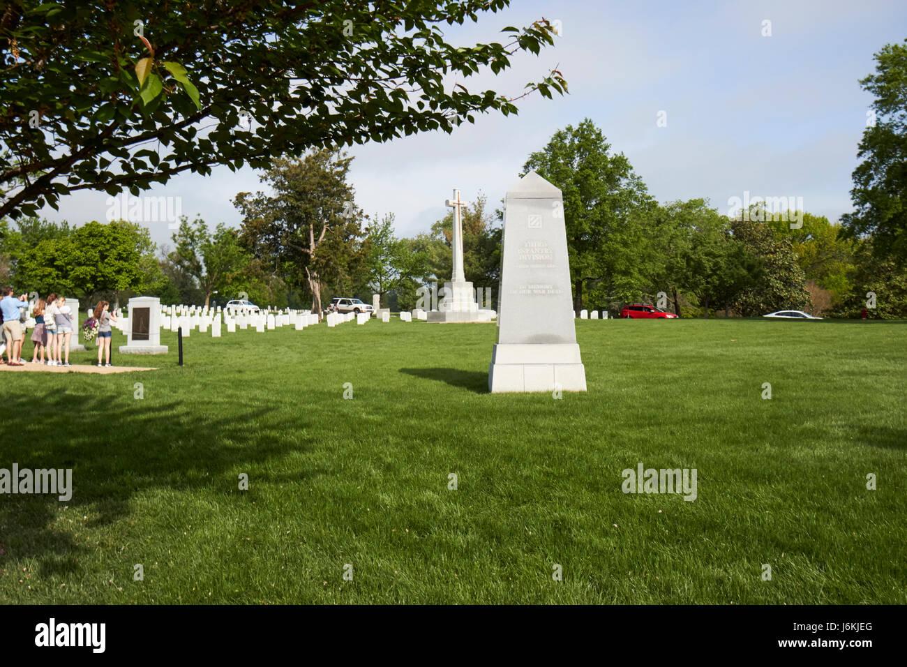 third infantry division memorial arlington cemetery Washington DC USA - Stock Image