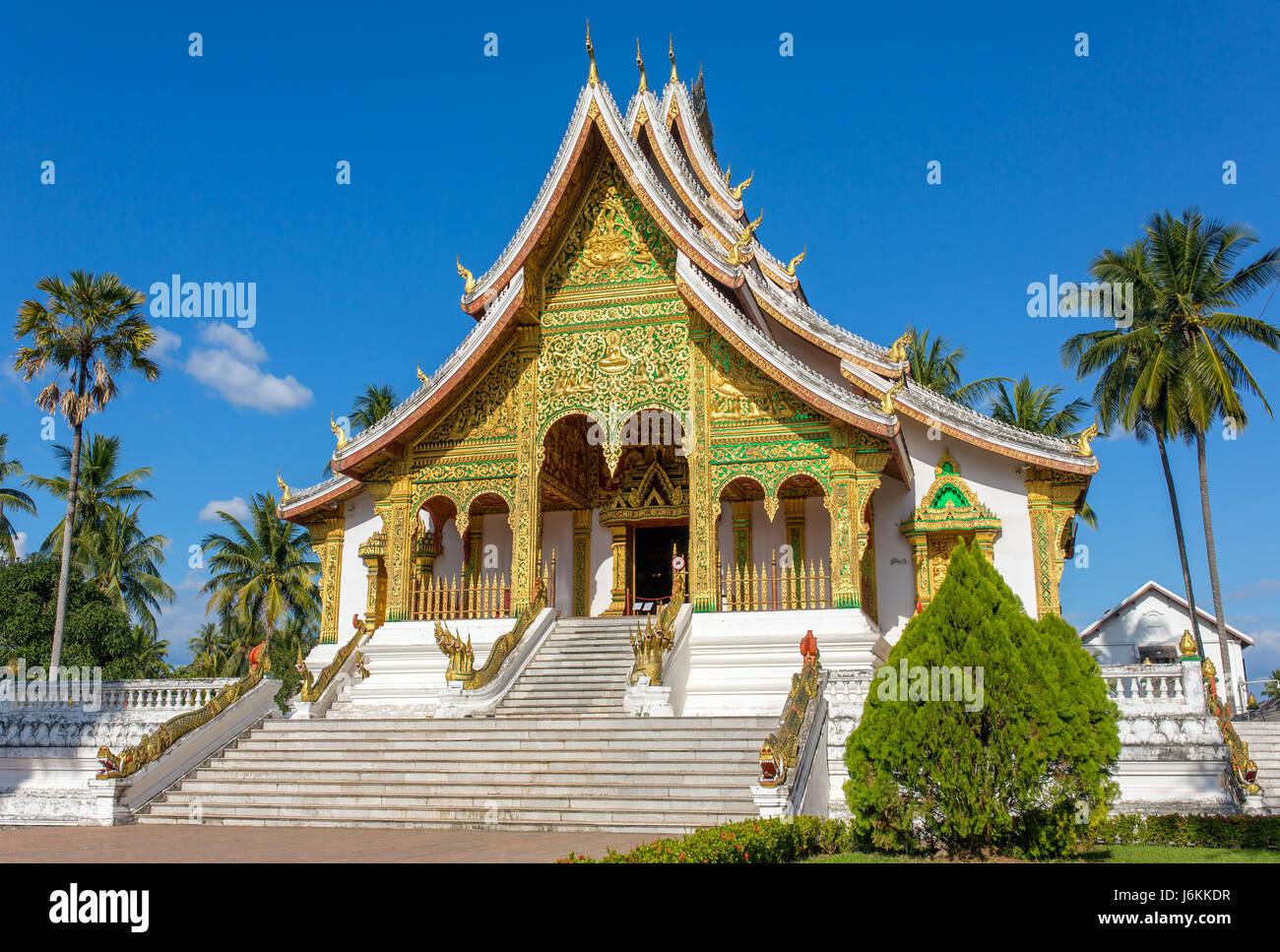Haw Pha Bang temple in Luang Prabang, Laos Stock Photo