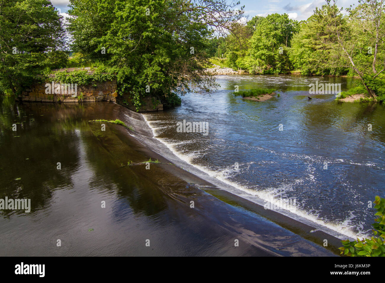 The Blackstone River in Uxbridge, MA - Stock Image